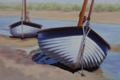 Chisnell oil painting coastal sailing yacht