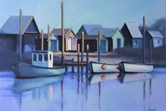 Chisnell Oil Painting FishingBoats Southwold