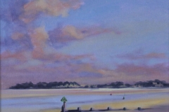 Oil painting. Chisnell. Wells tidal beach.