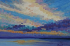 chisnell oil painting mosaic sky