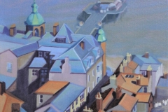 Chisnell painting Cromer pier.