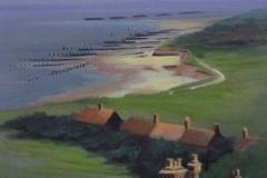 Chisnell painting Happisburgh coastal erosion