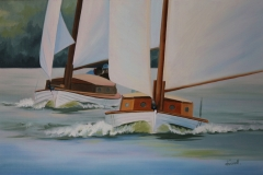 Chisnell Oil painting Broads Yachts