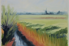 Chisnell Oil Painting Broadland marsh
