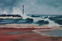 Chisnell Oil Painting Sea Palling