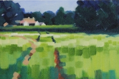Chisnell Field oil painting