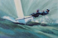 Chisnell Oil Painting 420 dinghy