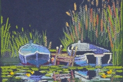 Chisnell pastel drawing of Norfolk Broads